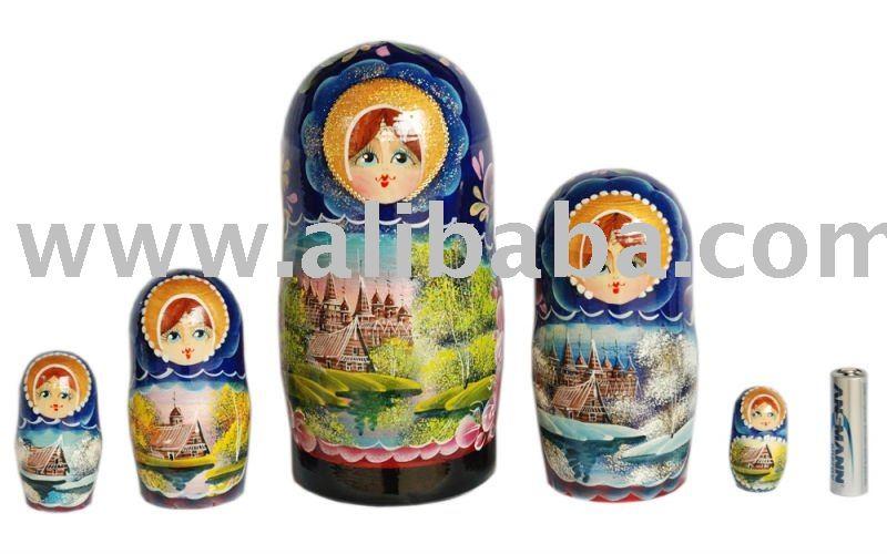 Traditional Matryoshka doll Spring