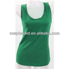 100% Cotton customize girl s tank top serials