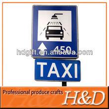 Metal llamativo carteles de publicidad para taxi