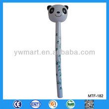 Lungo bastone gonfiabile panda giocattolo, di plastica a forma di animale giocattoli, panda gonfiabile bastone testa