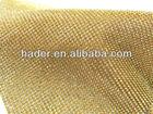 High quality golden plated aluminum rhinestone mesh trimming