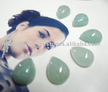 11x15 mm Natural Milky Aquamarine Pear Cabochon Loose Stone