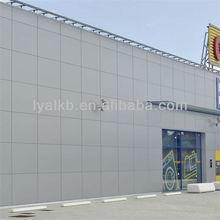 Projeto cortina de alumínio plástico painéis compostos pvdf acp externa revestimentos de parede