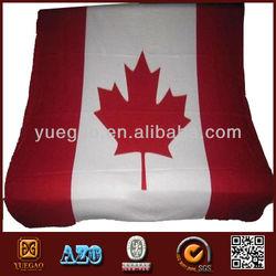 New Canada Canadian Country Flag Fleece Throw Git Blanket