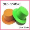 Plain Mini top hats GREEN HATS special colors