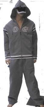Thick Heavy Weight Matching Hip Hop Style Track Suit