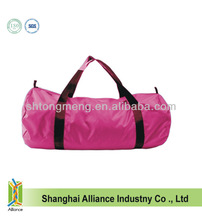 Rose Red Customized Large Comparment Duffel Nylon Promo Travelling Bag