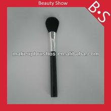 2013 new popular plastic handle cosmetic brush,gloss black plastic handle powder cosmetic/makeup brush
