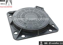 EN124 D400 C/O600mm Square Frame BMC Manhole Cover/SMC for Manhole Cover/SMC Cover
