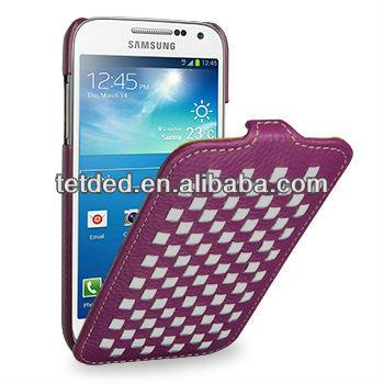 TETDED Premium Leather Case for Samsung Galaxy S4/IV mini/mini LTE GT-I9190 I9195 I9192 -- Troyes Weave: Purple072)