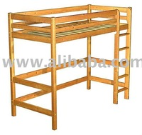 Highbed made of solid pine