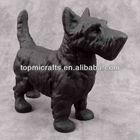 SCOTTIE DOG BLACK SCOTTISH TERRIER Cast Iron DOORSTOP STATUE