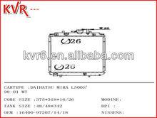 Aluminium Auto radiator for DAIHATSU MIRA L500S' Year 98 01 OEM 1640097207 14 18