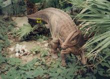 Dinosaur 3d model life size robot