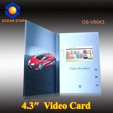 "2012 best seller, promotion video card, 2.4"" 2.8"" 3.5"" 4.3"" 7"""