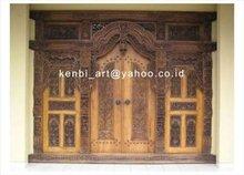 TEAK gebyok Ethnic Style, Full Door Model Carving.