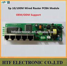 Full Customized OEM/ODM Mulitmedia cabinet 5p 10/100M PPPoE Network NAT Broadband Lay2 PCBA Module wired Routers