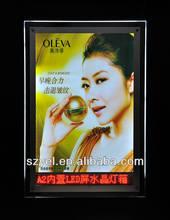 PP Syntheti flashing el advertisement poster,el poster UVproof backlist light box,professional 3D el poster ads bulk saling