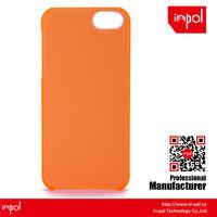 One piece soft matte finish coating transparent cell phone cover case - orange matte