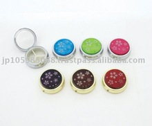 Japanese Kimono Pill Case w/Mirror