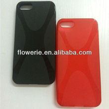 FL2206 2013 Guangzhou hot selling X line tpu soft back case for iphone 5 5G