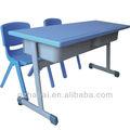 A-12309 caliente venta de doble asientos barato escuela de escritorio y silla de conjuntos