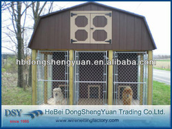 Best price galvanized chain link outdoor dog kennels(direct factory from China)