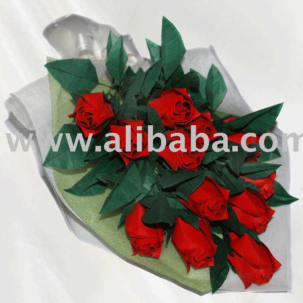Premium Origami Dozen Roses Bouquet