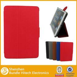 2013 Korea contrast color PU for iPad mini case with intelligent sleep function