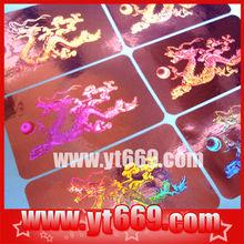 tamper proof reflective 3D security hologram sticker