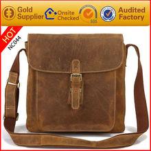 Guangzhou bag manufacturer nubuck leather shoulder sling bag