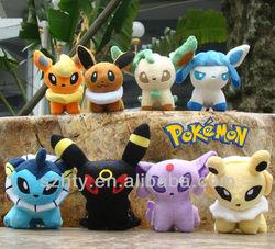 Pokemon 8styles 5inch Eevee Plush Doll toy