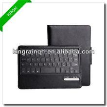 New Style PU leather case wireless bluetooth detachable keyboard case for ipad mini 2gen