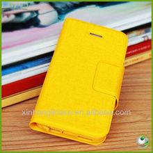 กรณีโทรศัพท์puพลิกโทรศัพท์ครอบคลุมสำหรับiphone4กรณีโทรศัพท์มือถือกระเป๋าสตางค์