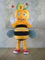 Insetos benéficos mascote dos desenhos animados da abelha nenhum disfarce. 3821