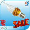 Warm wihte e14 b22 e27 led candle bulb 3w fancy candle light