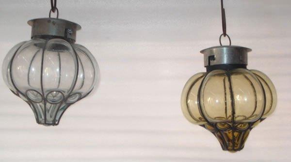Mexican blown glass lantern