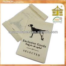 Cartoon label plastic garment label Classic blue,accept OEM service