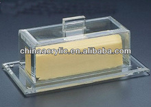 6 5/8*3 5/8 *2 1/2 elegant and unique clear acrylic butter dish & cover