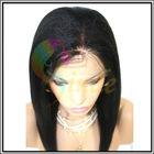 Cheap human hair coarse yaki lace wig for black women