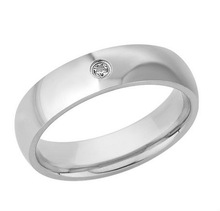 China factory Stainless Steel Cubic Zirconia Mens Ring