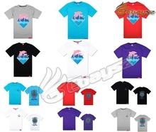 Discount print men foil printing cotton t shirt