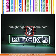 flexible shop advertising neon sign