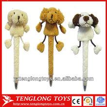 creative cute animal shaped plush ballpoint pen