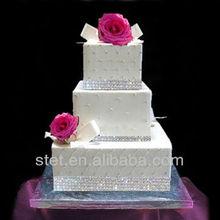 elegant bling crystal diamond wrao table cake decoration