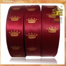 100% Polyester Grosgrain/Satin Printed ribbon in China