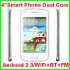 4 inch Cheap Dual Core Smart Mobile Phone with WiFi Bluetooth FM Android 2.3 OS