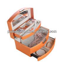 Orange popular leather jewelry case