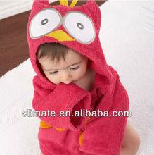 Hot!Retail boy girl Animal Baby bathrobe/baby hooded bath towel/kids bath terry children infant bathing