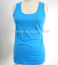 Women merino wool T-shirt tank tops